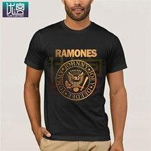 Crew Neck T-Shirt Ramone Vintage Cotton Tees Tops Logo Funny Popular