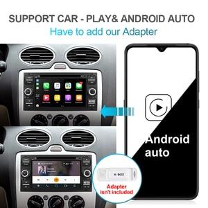 Image 4 - Isudar PX6 2 Din Android 10 GPS Autoradio 7 Cal dla forda/Mondeo/Focus/Transit/C MAX/S MAX/Fiesta samochodowy odtwarzacz multimedialny 4GB RAM
