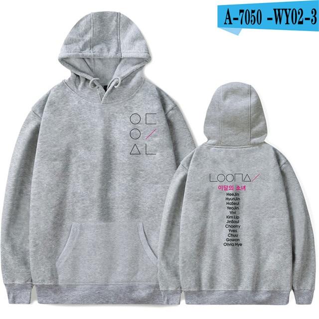 LOONA The Same Style sweatshirt hoodies women men cotton long sleeve sweatshirts hoodie plus size S-4XL Jacket coat kpop clothes 12