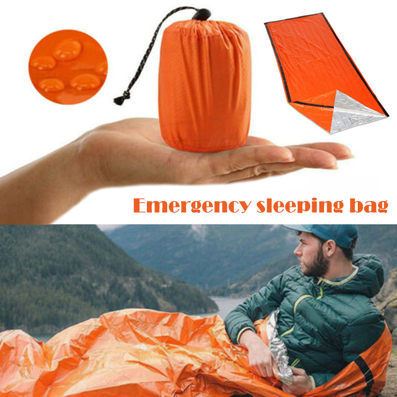 Newly Portable Thermal Waterproof Emergency Sleeping Bag For Outdoor Survival Hiking Camping SMN88