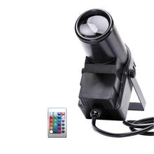 Z pilotem przenośna scena Spotlight dioda LED RGBW wiązka Pinspot światło przez kontroler DMX lampy punktowe na kula lustrzana światło sceniczne