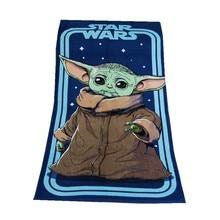 Disney Yoda Star Wars Beach Bath Towel Baby Boys Kids Swimming Bath Towels 100% Cotton 70x140cm