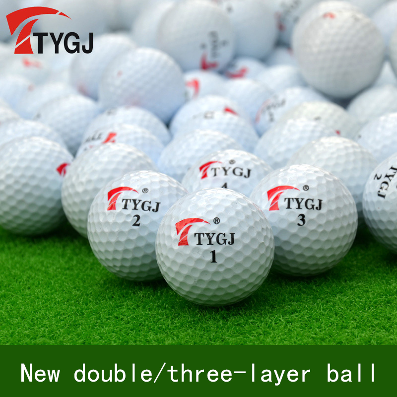 TYGJ Brand New Genuine Golf Coach Recommended Practice Special Double/three Layer (long Distance Ball) 80-90 Game Ball Stability