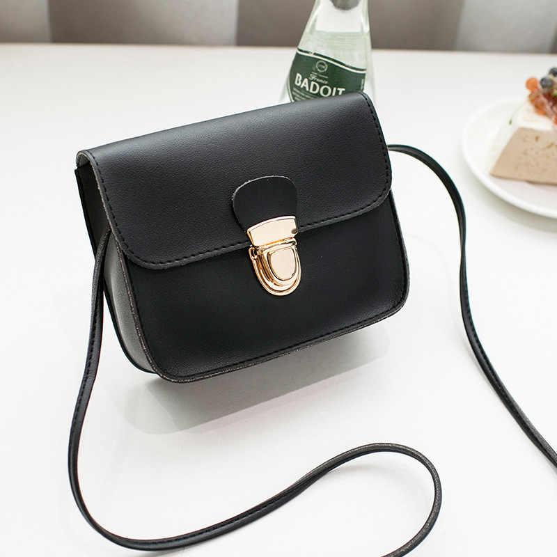 Mulheres mensageiro sacos mulher saco 2019 marcas famosas moda feminina cor sólida capa de bloqueio ombro crossbody saco do telefone praia sac