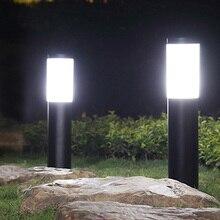 Thrisdar E27 Нержавеющаясталь светильник лужайки Открытый сад вилла наземный уличный колонна светильник для наружного освещения двора столб с...