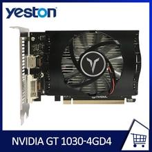 YESTON Graphics Card GT-1030 4GB DDR4 64-Bit PCI Express Computer Gaming Video Card GPU nVIDIA Geforce For Windows7/8/10 BTC Min