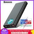 Baseus Power Bank 20000mAh carga rápida 3,0 PD carga rápida Powerbank cargador de batería externa portátil Poverbank para Xiaomi
