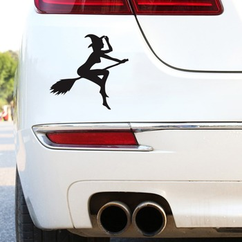 Fashion Design Funny Sexy Witch Lady Gir Witch Sexy Lady Car Sticker Car Styling image