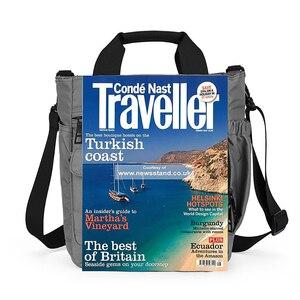 Image 3 - Borsa A Tracolla da uomo, Multi funzionale Crossbody Messenger Bag Sacchetto di Affari della Cartella Sling Viaggio iPad Documenti Valigetta