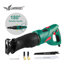 LANNERET 900W Electric Saw Reciprocating Saw Multifunction Saber Hand Saw with Rotating Handle for Wood and Metal Cutting