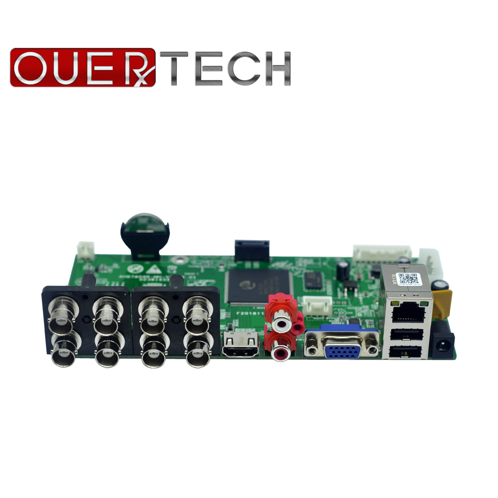 OUERTECH  AHD CVI TVI IP CVBS 5 In 1 8CH CCTV DVR Board 1080N/1080P/5MP 1 SATA ONVIF Surveillance Video Recorde Main Board