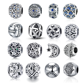 CodeMonkey 100% Real 925 Sterling Silver Oxidation Flower Bead Fit Original Pandora Bracelets Hot Sale DIY Jewelry Making
