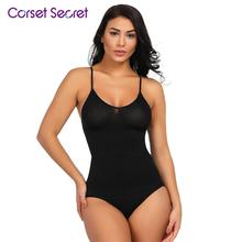 Corset Secret Women Body Shaper 4 Steel Bones Shaping Vest High Waist Panty Anti-curling Sets 2 Pieces