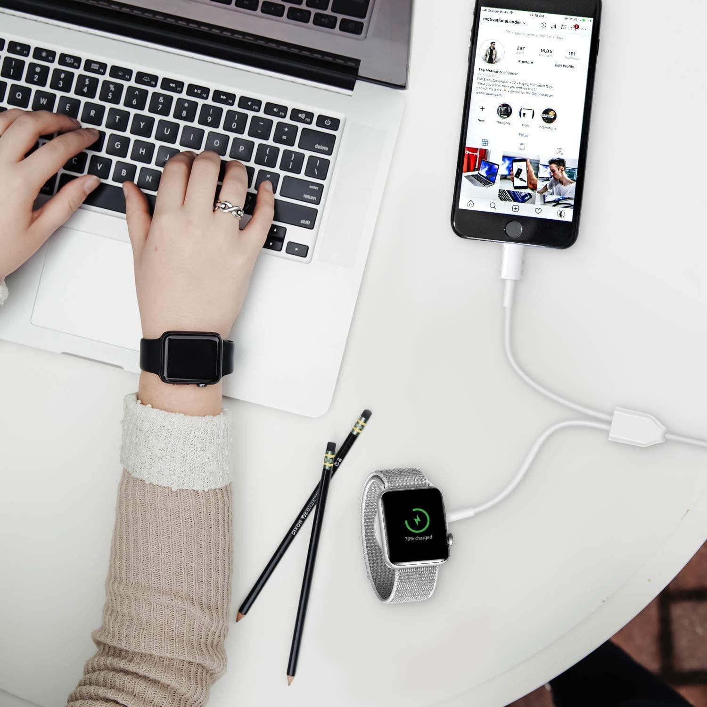 Kabel für Apple Uhr Ladegerät 3 in 1 USB QI Drahtlose Ladestation für iphone 12 11 pro max plus 10 9 8 7 6/iWatch 6 5 4 3 SE