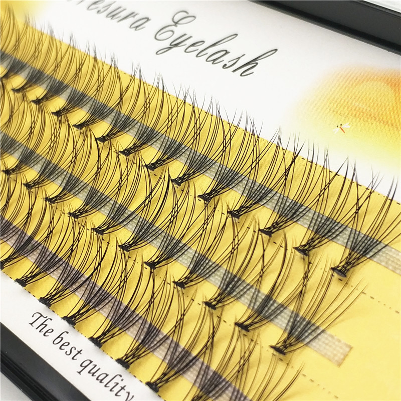 1 Piece 60 Tuft Eyelash Extension Pure Handmade 3D Eyelashes 10D0.07 Thick Personal Eyelashes False Eyelashes Free Shipping