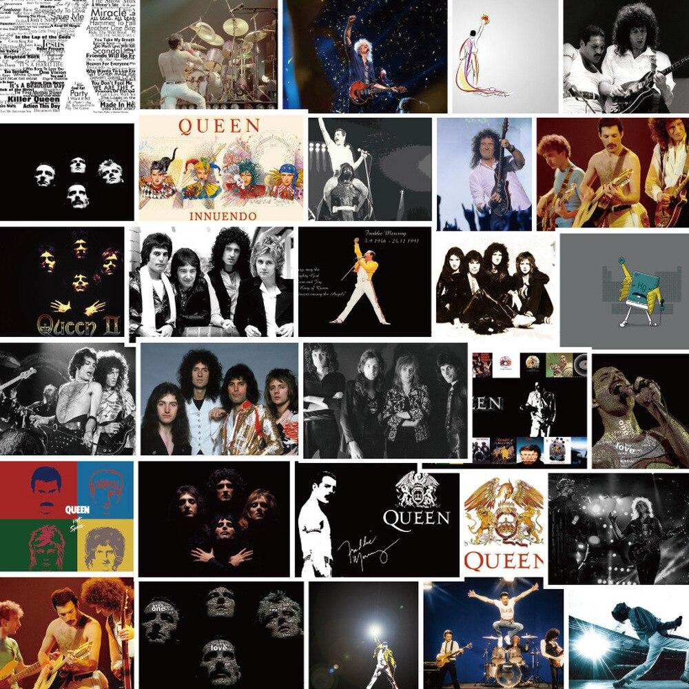 30 шт. Queen группа наклейки Водонепроницаемый ПВХ наклейки для любителей подарок DIY ноутбук Чемодан телефон наклейки для гитары