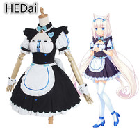 NEKOPARA Vanilla Cat Lady Cosplay Costume Halloween Outfits Maid Dress Game Cosplay Sets Suits