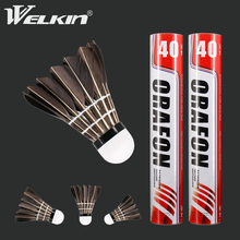 12PCS Durable Badminton Shuttlecocks Black Goose Feather Badminton Shuttlecock Balls for Training Badminton Sports Speed 76 77