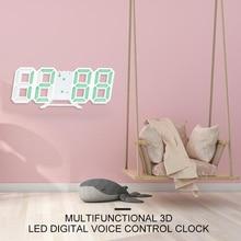 Креативные 3D настенные часы светодиодный цифровой ночник отображение даты и времени настольные часы будильник часы для дома Декор для гостиной