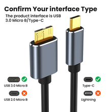 Type-C To USB 3.0 Micro B Cable Connector 5Gbps External Hard Drive Disk Cable For Hard Drive Data Cable For Apple IOS Windows