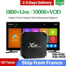 X96 mini IP TV France Box S905W Android 7.1 QHDTV 1 year IPTV Subscription Arabic Belgium Netherlands French