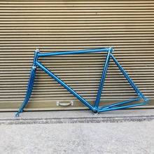 Marco de bicicleta de engranaje fijo 52cm verde vintage bicicleta fixe Marco de bicicleta de velocidad única marco de acero incluye horquilla y auriculares