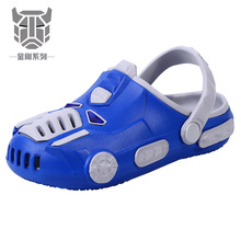Transformerse Cartoon Car Clogs Adidase EVA Crocse Kids Shoes Nikes Cool Beach Sandals Slippers For