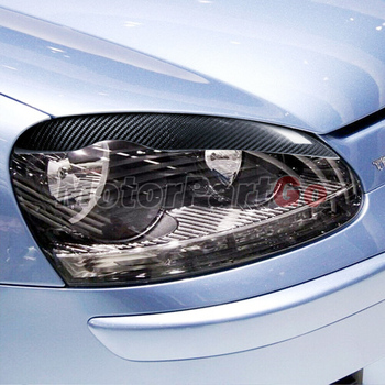 2PCS Car Styling Real Carbon Fiber Headlight Eyebrow Eyelids For Golf5 MK5 Decal Trim Cover Sticker Accessory Parts 2005-2009 1