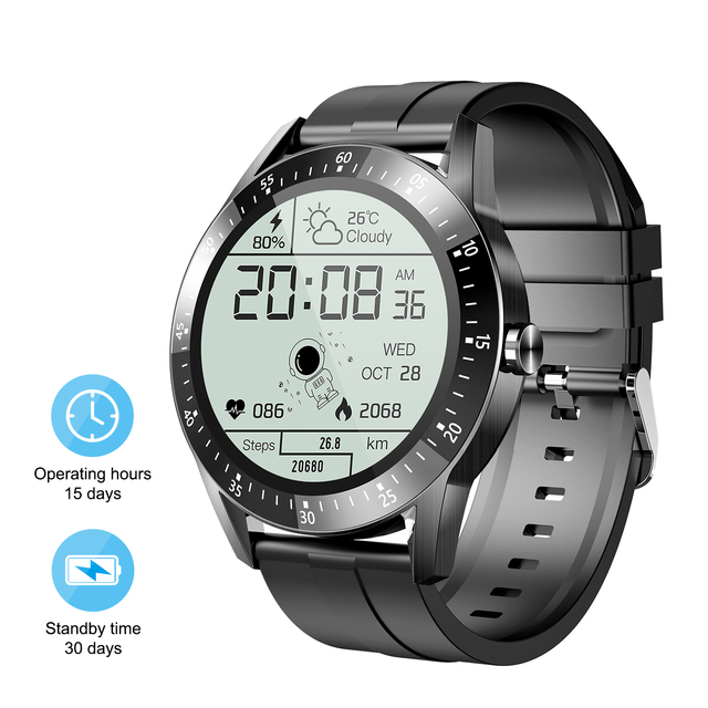 15Days Long Battery Life Smart Watch Men Full Touch Screen Waterproof Smartwatch For Android IOS Fitness Tracker Message Remind