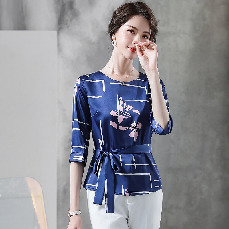 Women Suits Summer Half Sleeve Printing Shirt Dress Office Lady Formal Work Clothes Women Pants Suits Woman Set Suits 6159