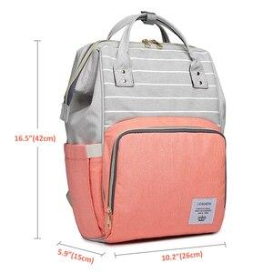 Image 5 - Lequeen Diaper Bag Nursing Care Baby Bag Stripe Maternity Bag Travel Nappy Bag Organizer Waterproof Maternity Patchwork Bag