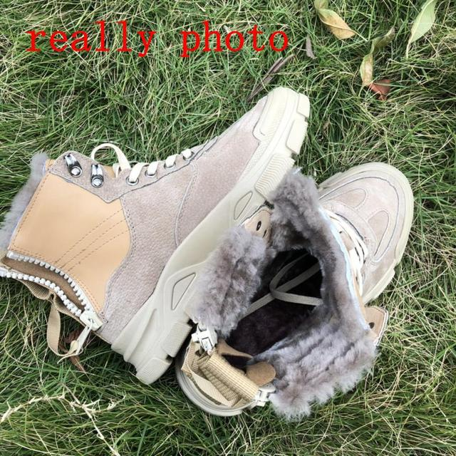 Genuine Leather Snow Boots