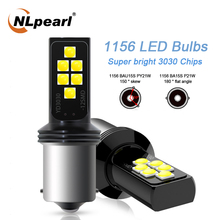 цена на NLpearl 2x Signal Lamp Bau15s py21w Led 1156 Ba15s P21w Turn Signal Light 12SMD 3030 1157 bay15d Led Lamp For Auto Brake Lights