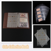 Coin Collection Book 42/30/20 Pockets Coin Holder Sheet for Storage Album Portable Professional Commemorative Coin Collection