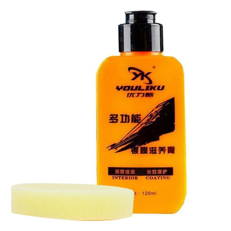 120ml Youliku Auto & Leather Renovated Coating Paste Leather Repair Automotive Interior Maintenance Leather Refurbishing Cleaner