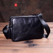 AETOO Vintage handmade men's shoulder bags, leather slanted bags