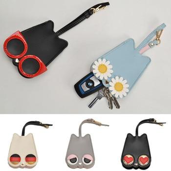 2020 INS Cartoon Car Key Case PU Leathe Key Bag Coin Purse Card Holder Key Housekeeper Keychain Case Multifunctional Key Cover