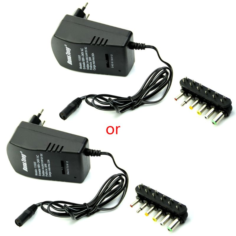 OOTDTY Universal EU AC/<font><b>DC</b></font> Adaptor Plug Power Supply 3V <font><b>4.5V</b></font> 5V 6V 7.5V 12V <font><b>DC</b></font> Charger APR17_25 image