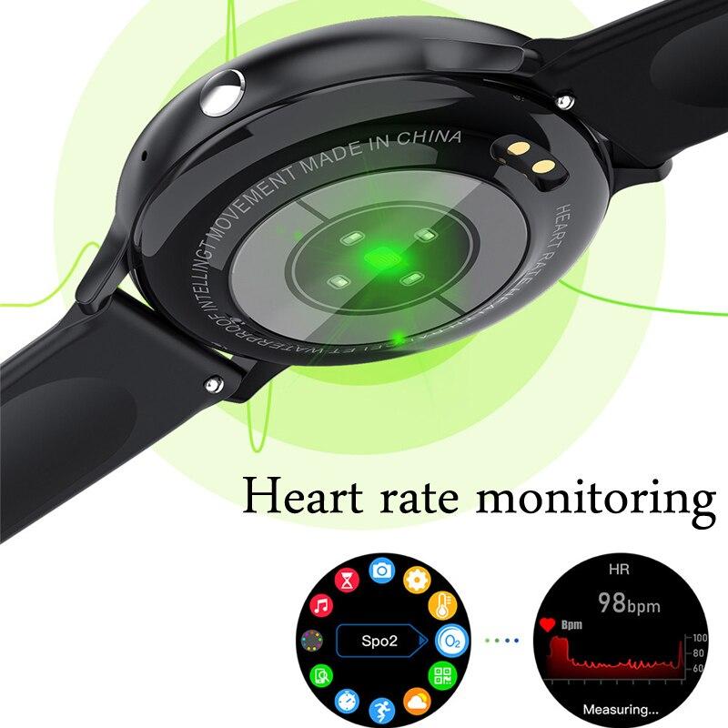 Смарт-часы для мужчин и женщин, фитнес-браслет с поддержкой Bluetooth, с сенсорным экраном 4
