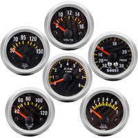 Boost gauge bar psi/Vacuum/Water temp/Oil temp/Oil pressure/Voltmeter/Tachometer RPM Car Gauge + Gauges holder tacometro digital