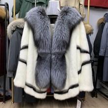 Real natural mink whole mink fur female short female mink young fox fur coat jacket