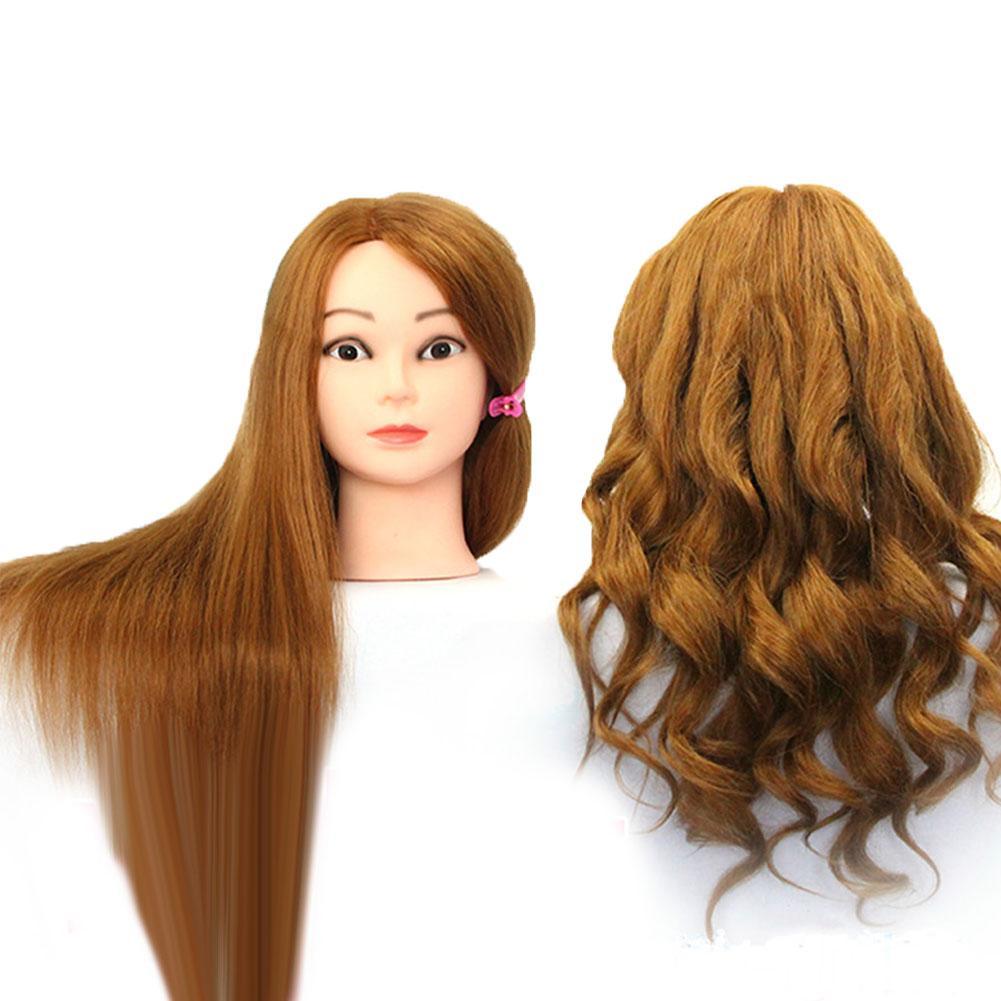 Mannequin Head Wig Hair Styling Hairdresser Training Model Manikin Hairstyle Wig Head Female Hairdressing Training Head 1pc