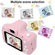 Pink Kids Digital HD Camera 2 Color Display Children Birthday Gift+16GB SD Card
