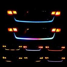 Bagageira led faixa de luz rgb streamer carro girando luzes de sinal 150cm fluindo correndo luz tira do carro freio strobe aviso lâmpada