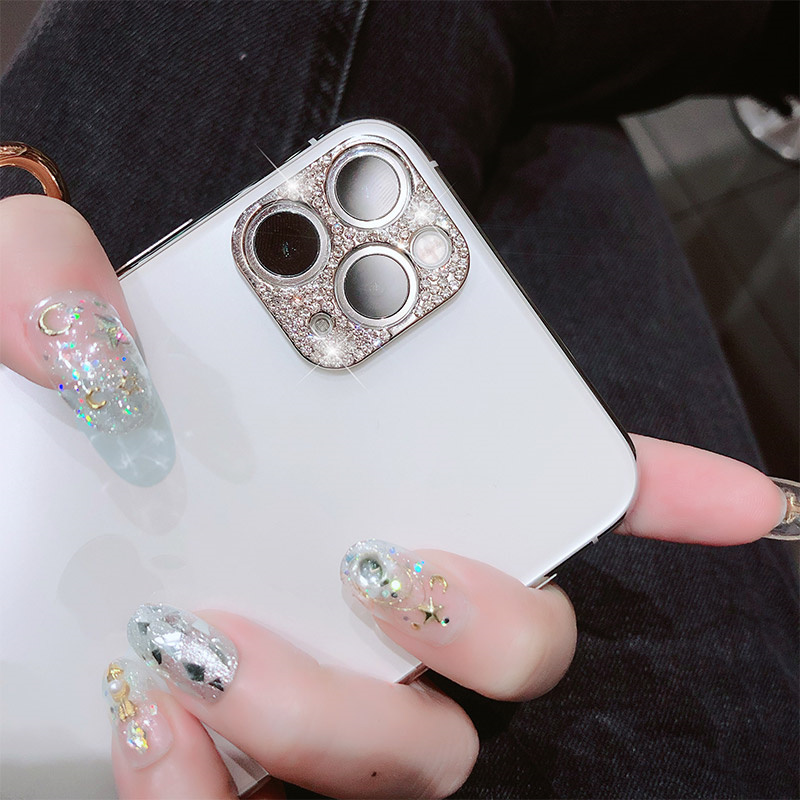 Bling Diamond Glitter Rhinestone Camera Protective Lens For iPhone 11 Pro Max Ring 4