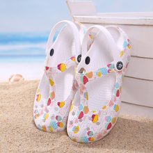 Summer Women Mules Clogs Beach Breathable Mary Janes Sweet Printing Slippers Womans Sandals Jelly Shoes Cute Garden Shoes