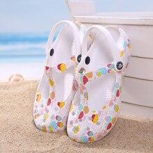 Zapatillas de verano transpirables para mujer, zapatos de gelatina, zapatillas de levantar con impresiones, calzado para jardín