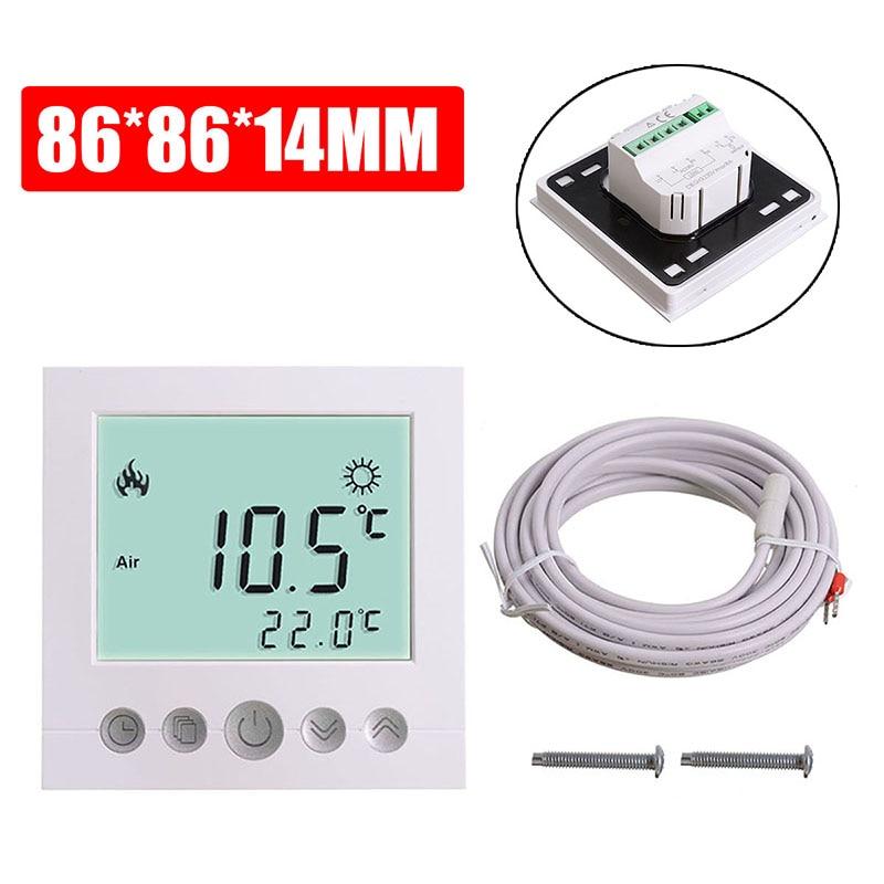 230V LCD Electric Digital Floor Heating Room Air Thermostat Warm Floor Temperature Controller