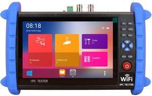 Image 5 - 7 インチ H.265 4 IP HD CCTV テスターモニター AHD CVI TVI SDI カメラテスター 8MP ケーブルスキャン ONVIF 光ファイバ VFL TDR