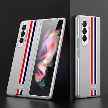 Ultra-cienki twardy futerał na telefon do Samsung Galaxy Z Fold 3 pełna ochrona cienki futerał na biznes do pokrowca ochronnego Z Fold3 tanie i dobre opinie OLPAY CN (pochodzenie) Etui z klapką Zwykły